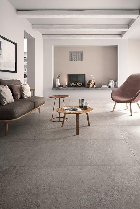 Pavimento/rivestimento in gres porcellanato effetto cemento X-BETON ...