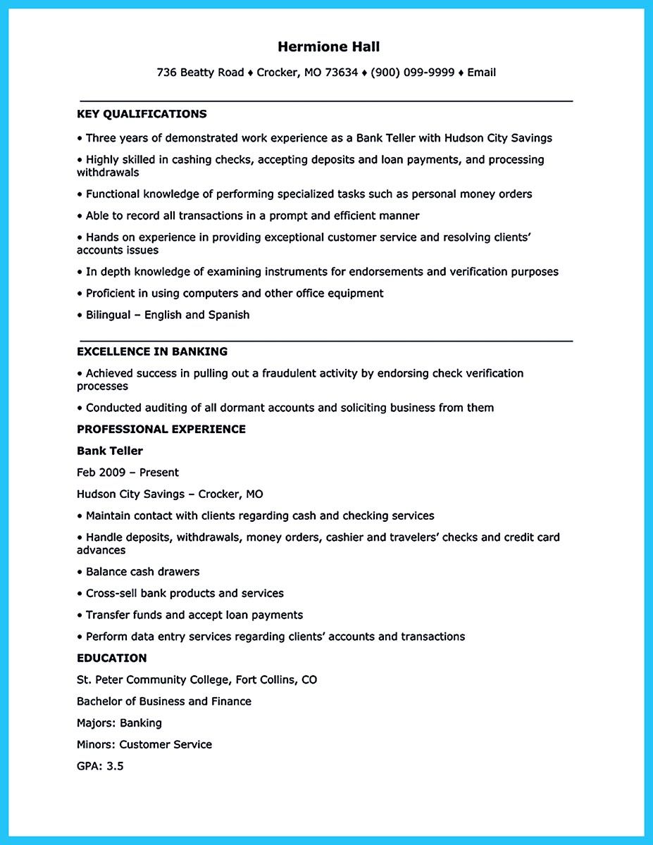 Bank Teller Job Description For Resume Most Of People Who Are About To Apply For Job As A Bank Teller