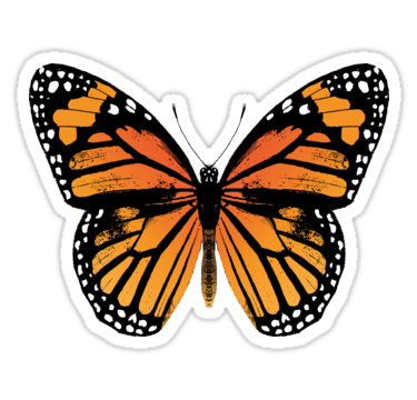 Monarch Butterfly Vintage Butterflies Sticker By Eclecticatheart Aesthetic Stickers Bubble Stickers Iphone Stickers
