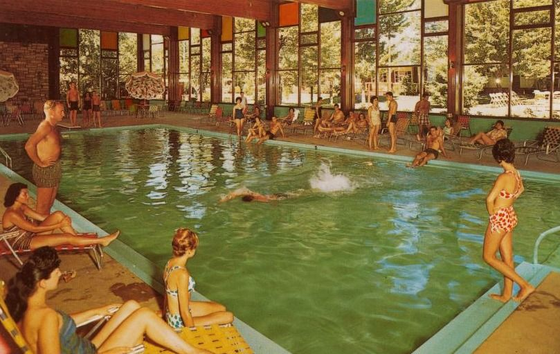 Rooms: Swimming Pool Love! 1955 Indoor Pool At The Hotel Brickman