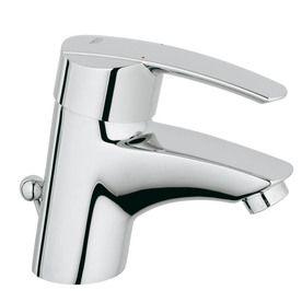 Shop GROHE Start Starlight Chrome 1-Handle Single Hole Bathroom Sink ...
