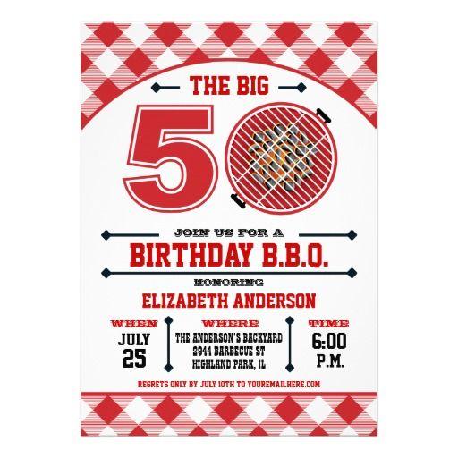 50th Birthday Barbecue Invitation 080