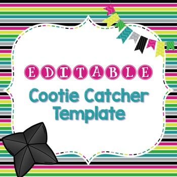 Catcher and Templates on Pinterest - cootie catcher template