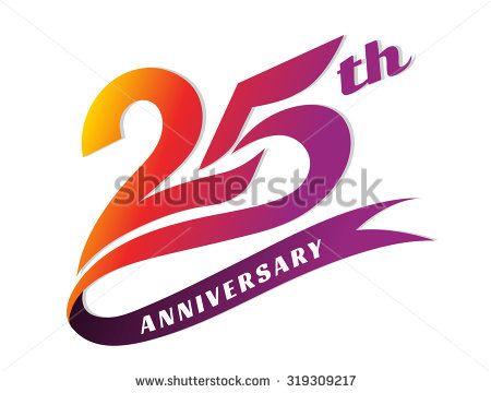Anniversary emblems anniversary template design stock vector