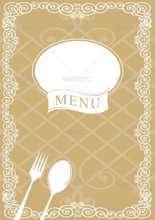Restaurant menu Cover design, art, background restaur\u2026 N2
