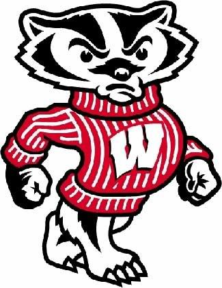 wisconsin badgers logo clip art wisconsin badgers picture my rh pinterest com badger clipart black and white badge clip art free