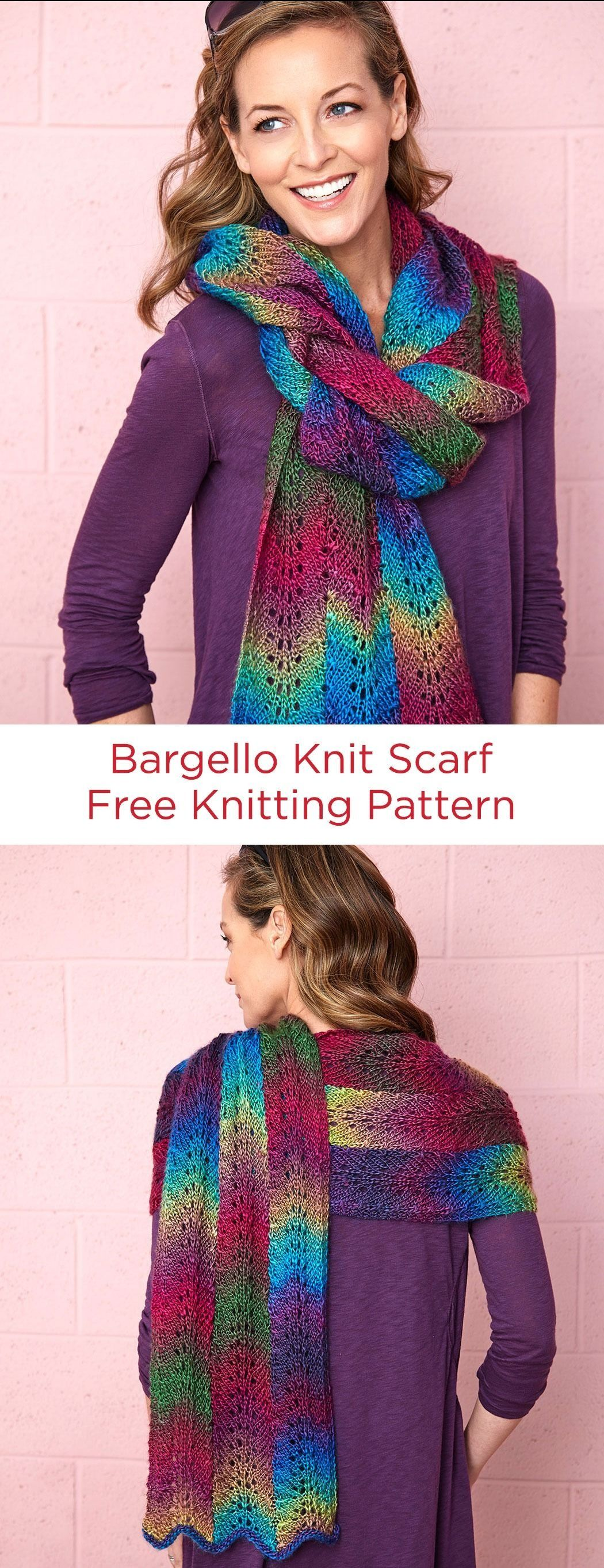 Bargello Knit Scarf Free Knitting Pattern in Red Heart ...
