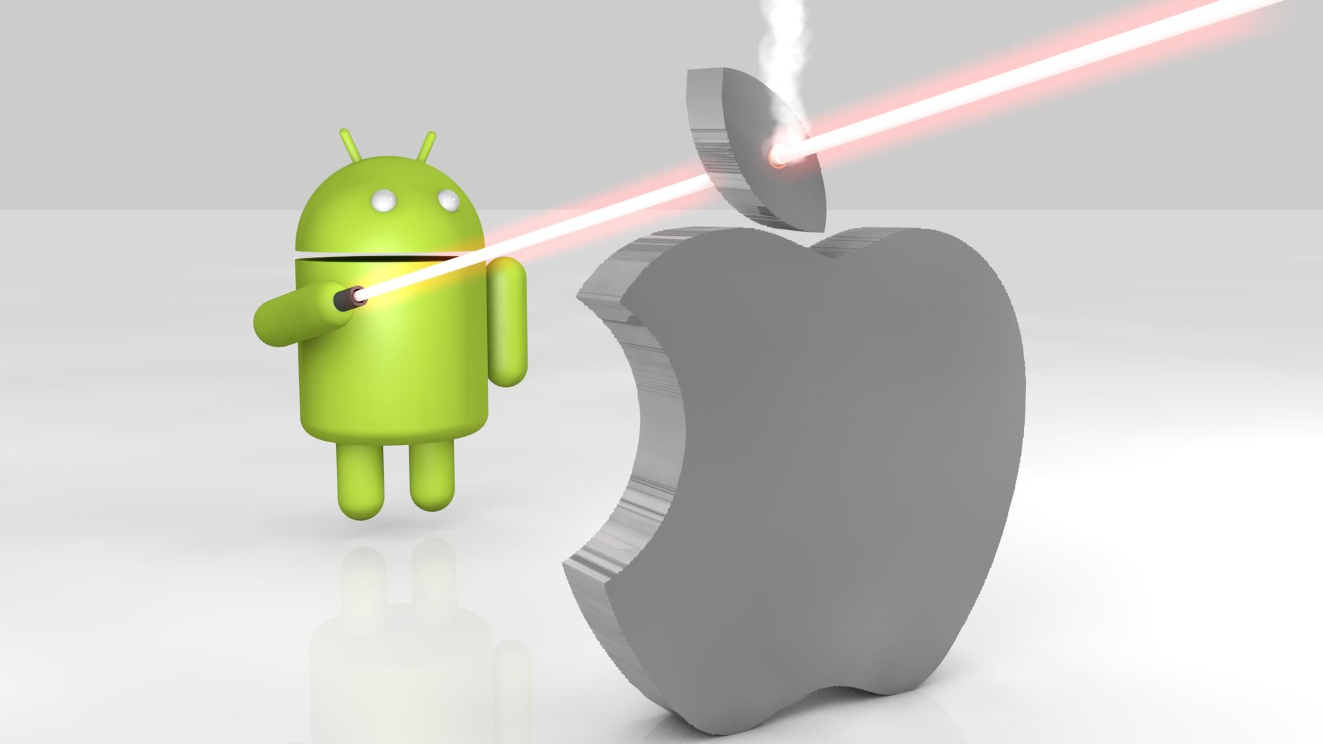 android vs apple 3d | android wallpapers | pinterest | android and