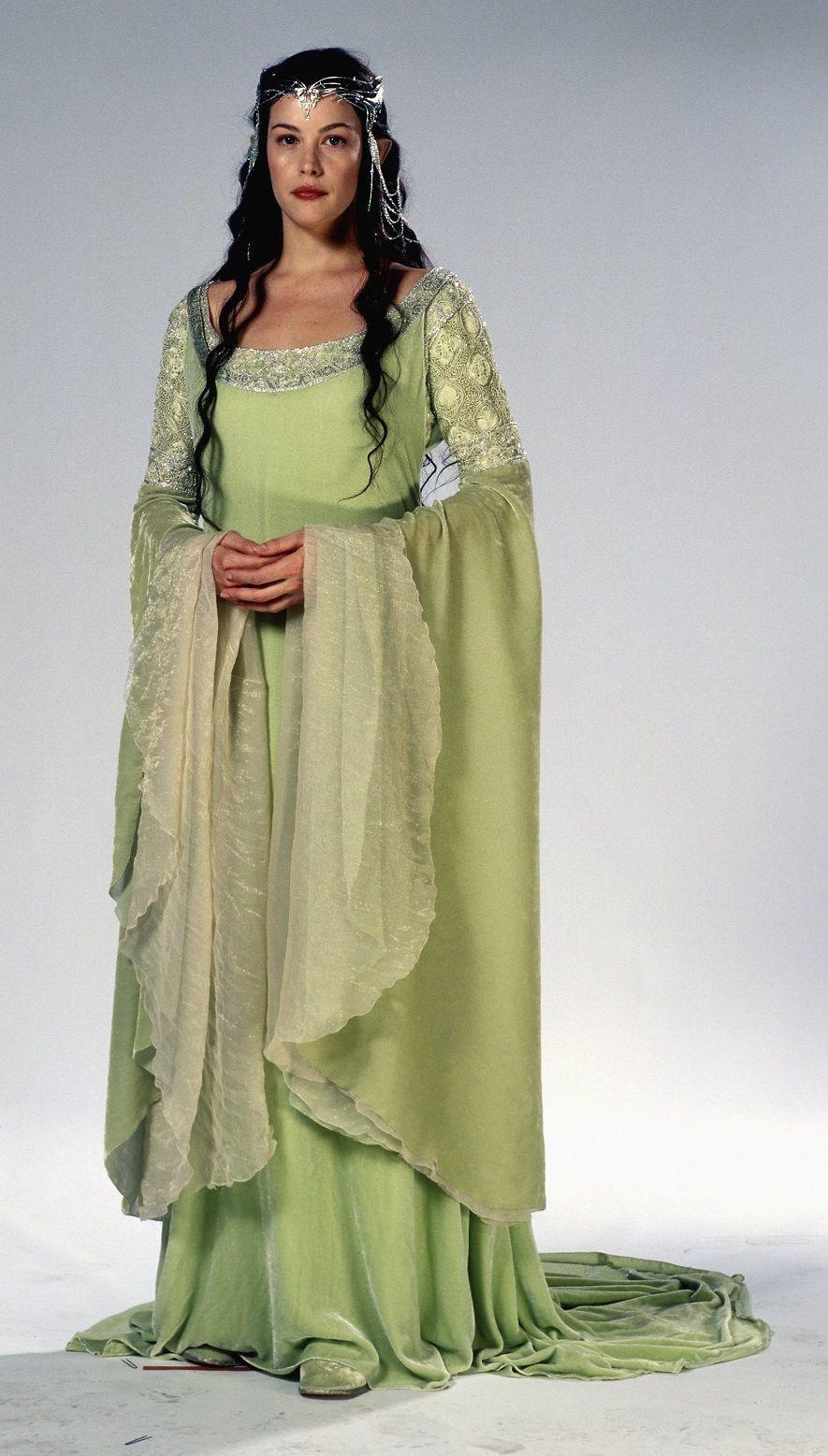 El Señor De Los Anillos El Retorno Del Rey 2003 Arwen Costume Lotr Costume Fantasy Dress