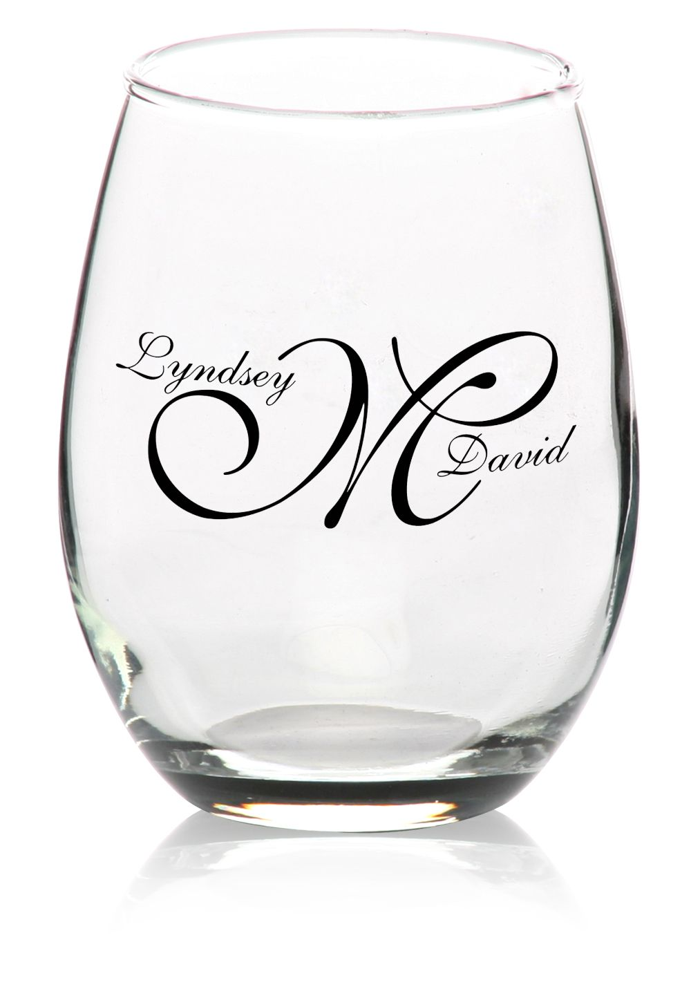 Custom 9oz. Arc Perfection Personalized Stemless Wine Glasses – From ...