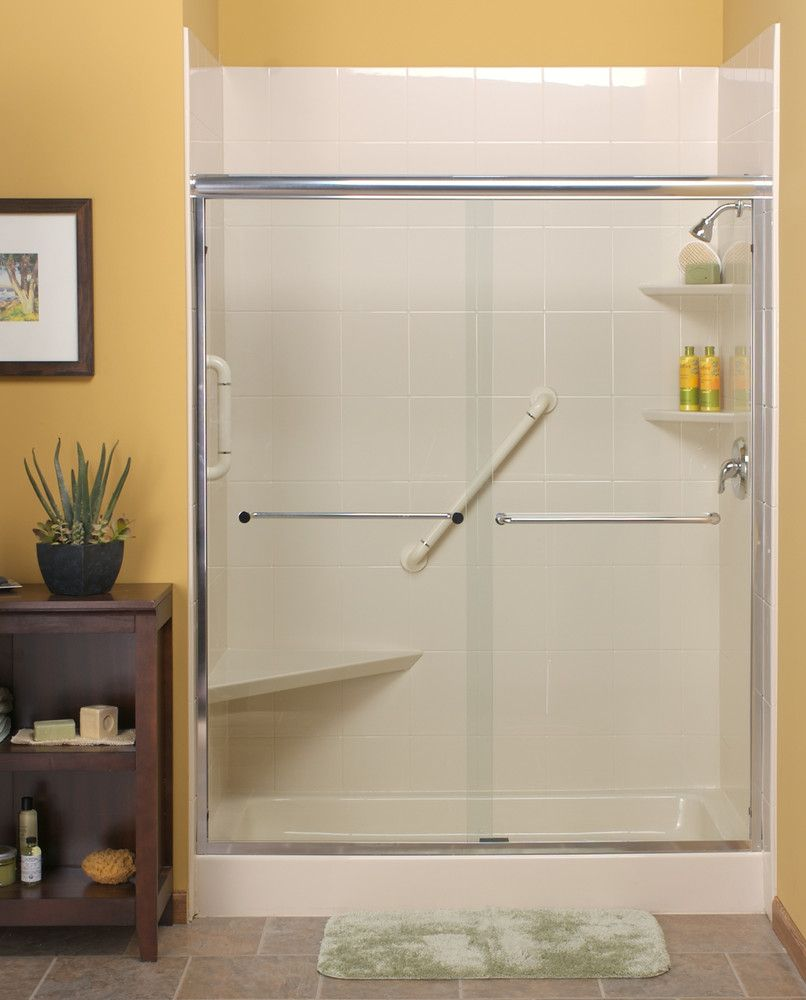 Modern Bath - sliding shower door | Bathroom\'s | Pinterest | Modern ...