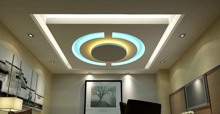 Falso techo de diseño moderno - cincuenta modelos El espacio - Techos Interiores Con Luces