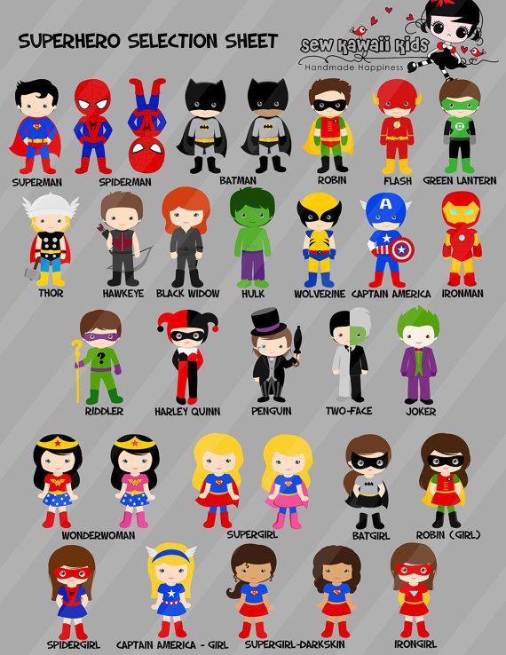 SUPERHERO Birthday Invitation Superhero Invite By SewKawaiiKids