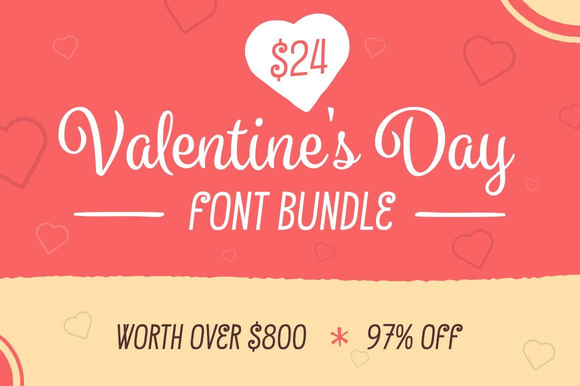 Fall In Love With The Valentine Font Bundle 9 Lovely Typefaces