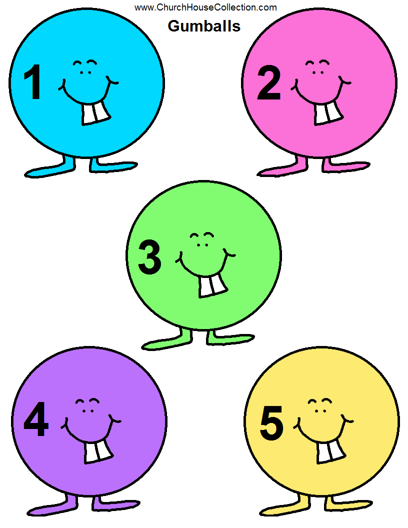 Church House Collection Blog Gumball Printable Templates