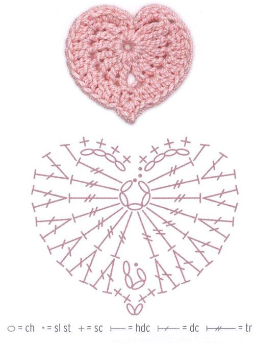 Patrón corazón en crochet | Crochet | Pinterest | Patrones ...