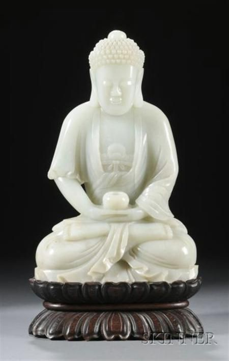 Sold For 358 000 Carved Jade Figure Jade Carving Chinese Art Art