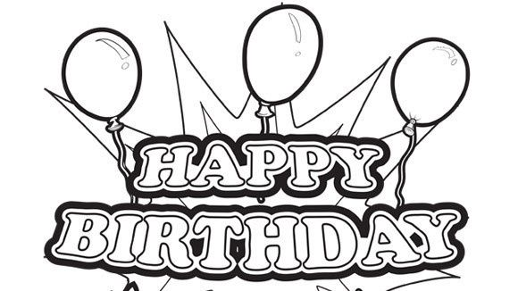 Print Out Coloring Birthday Cards – Coloring Pages of Happy Birthday Cards