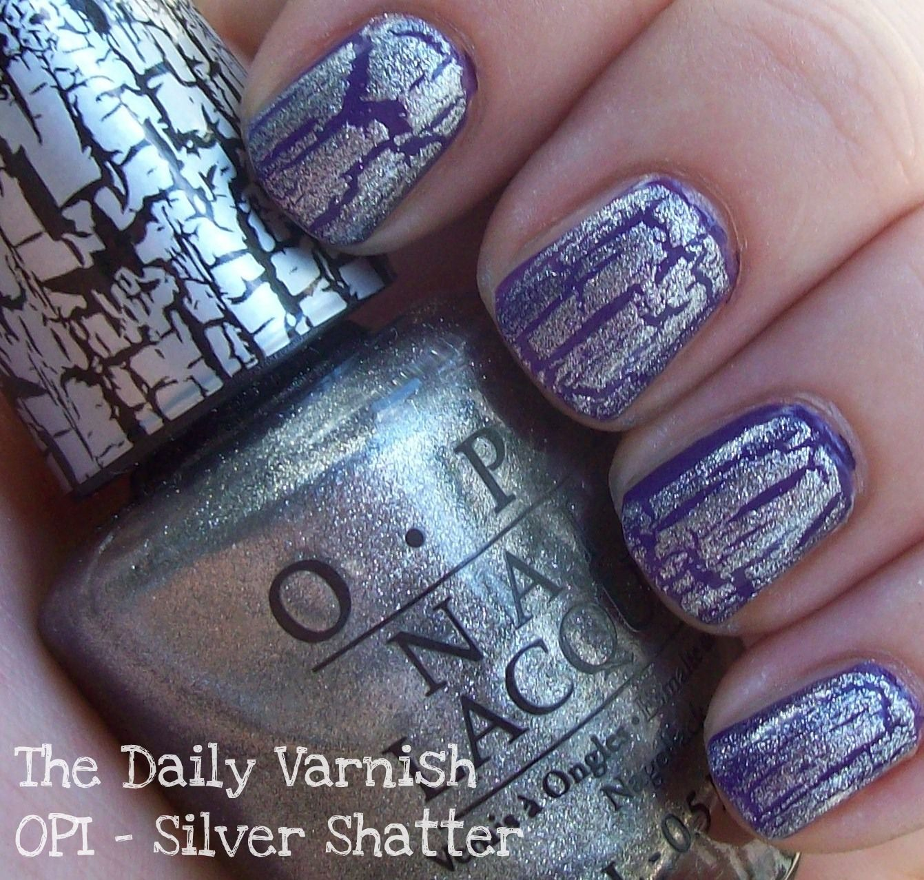 OPI - Silver Shatter over China Glaze Grape Pop...Why yes ...