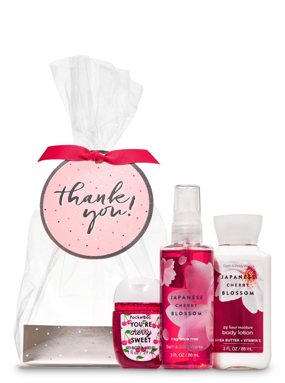 Bath Body Works Japanese Cherry Blossom Thank You Mini Gift Set