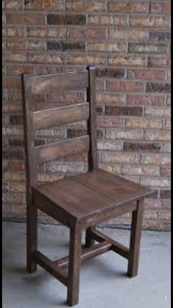 Charmant Solid Oak Ladder Back Dining Chair