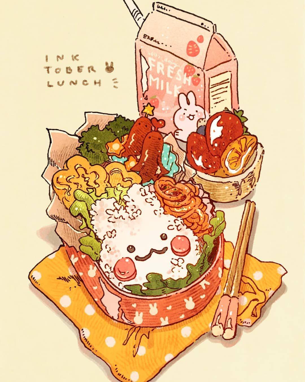 Epingle Par Happyjellycatsquid 0 Sur Sweet Dessin Repas