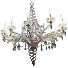 Maison Bagues Oval Genuine Exceptional Sixteen Light Silver Leaf