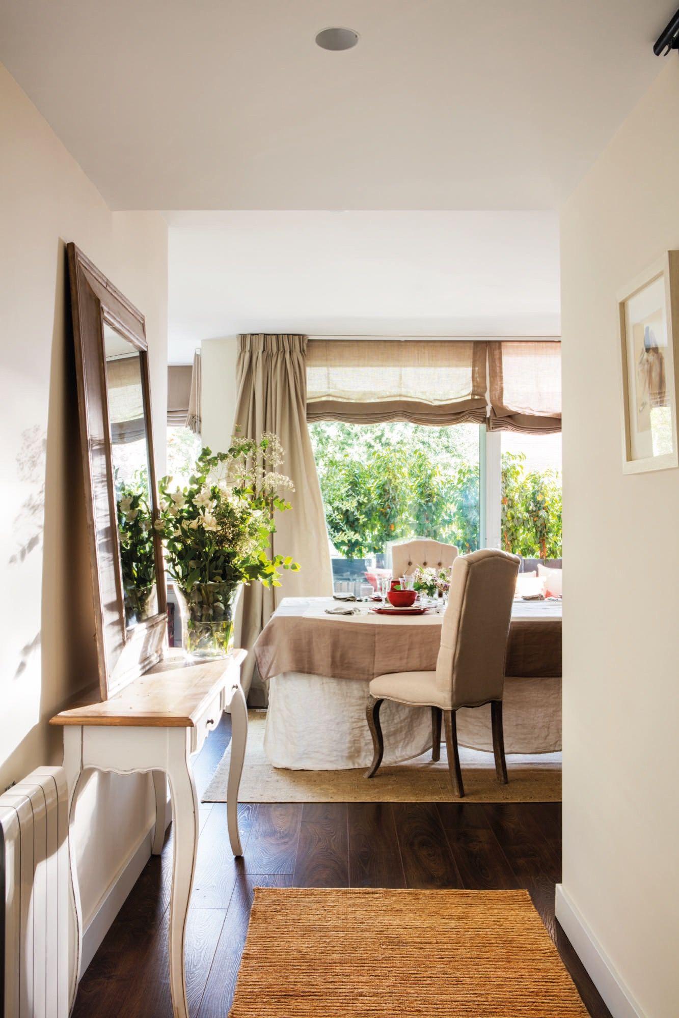 La entrada cortinas salon pinterest recibidor cortinas salon y comedores - Cortinas para comedores ...