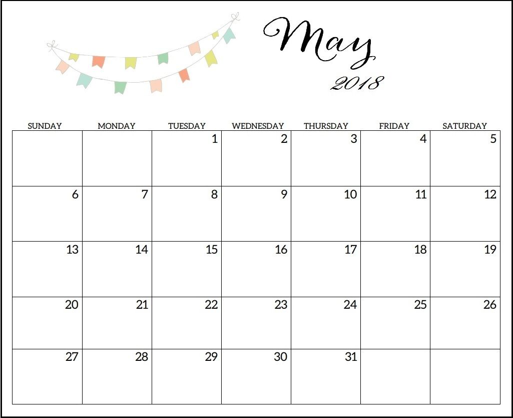 may 2018 blank calendar editable may 2018 calendar blank calendar wall calendar design