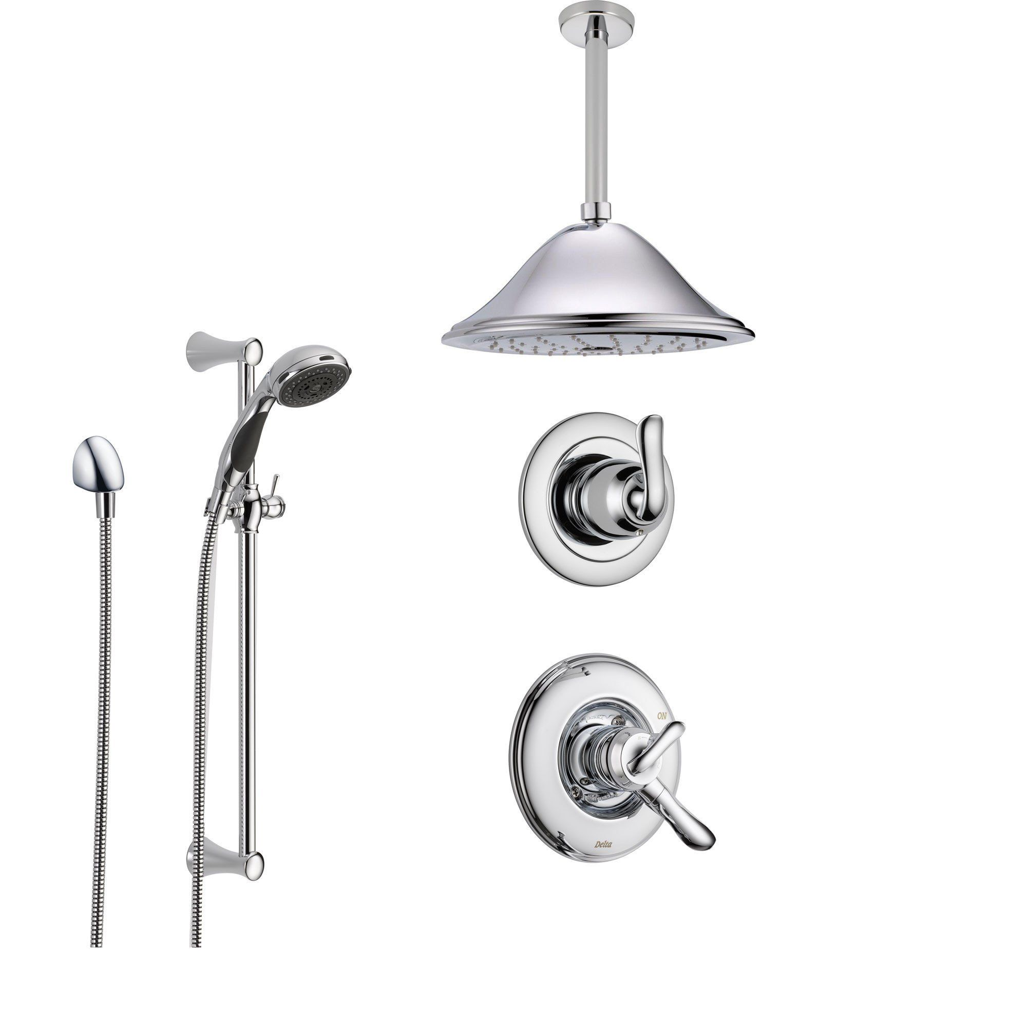 Delta Linden Chrome Shower System With Dual Control Shower Handle