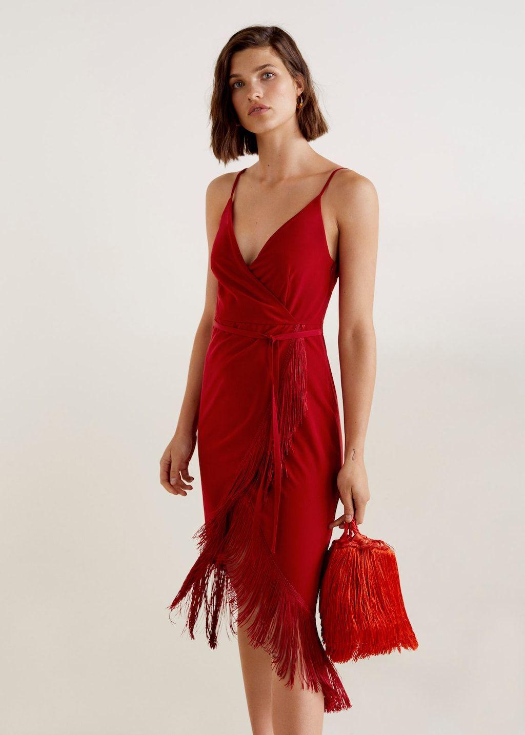 Vestido flecos en 2020 | Vestido con flecos, Vestidos de