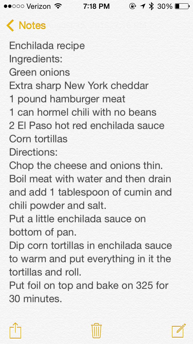 Emily's Enchilada recipe