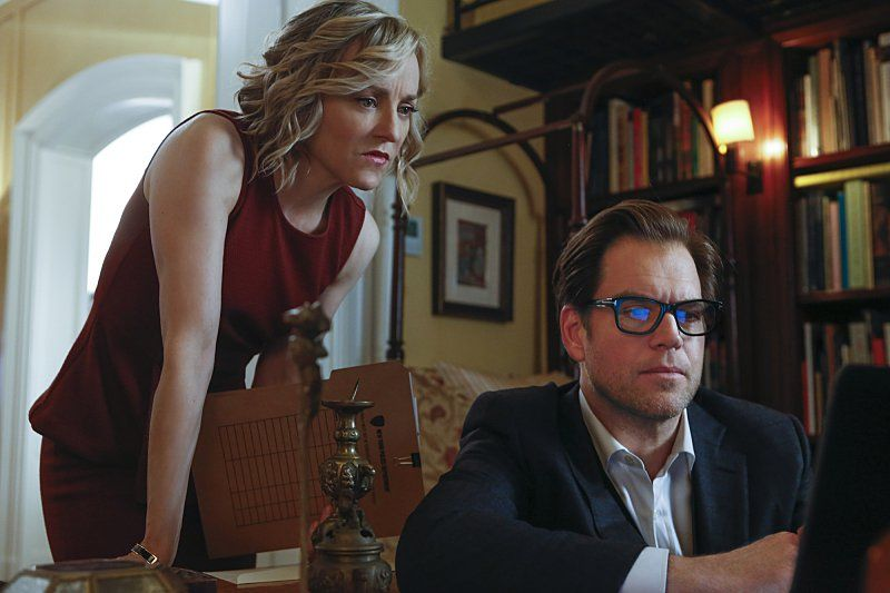 Geneva Carr as Marissa Morgan and Michael Weatherly as Dr. Jason Bull