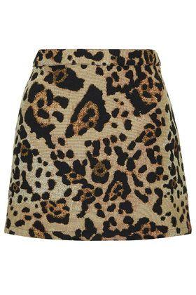 7cd31063c5f07b PETITE Jacquard Animal Print Pelmet Skirt | Buy Me | Animal print ...