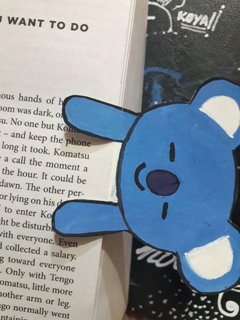 Koya bt21 book mark diy kpop diy diy crafts for kids