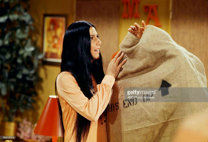 "Cher in a scene from the TV show ""Love, American Style"", 1971."