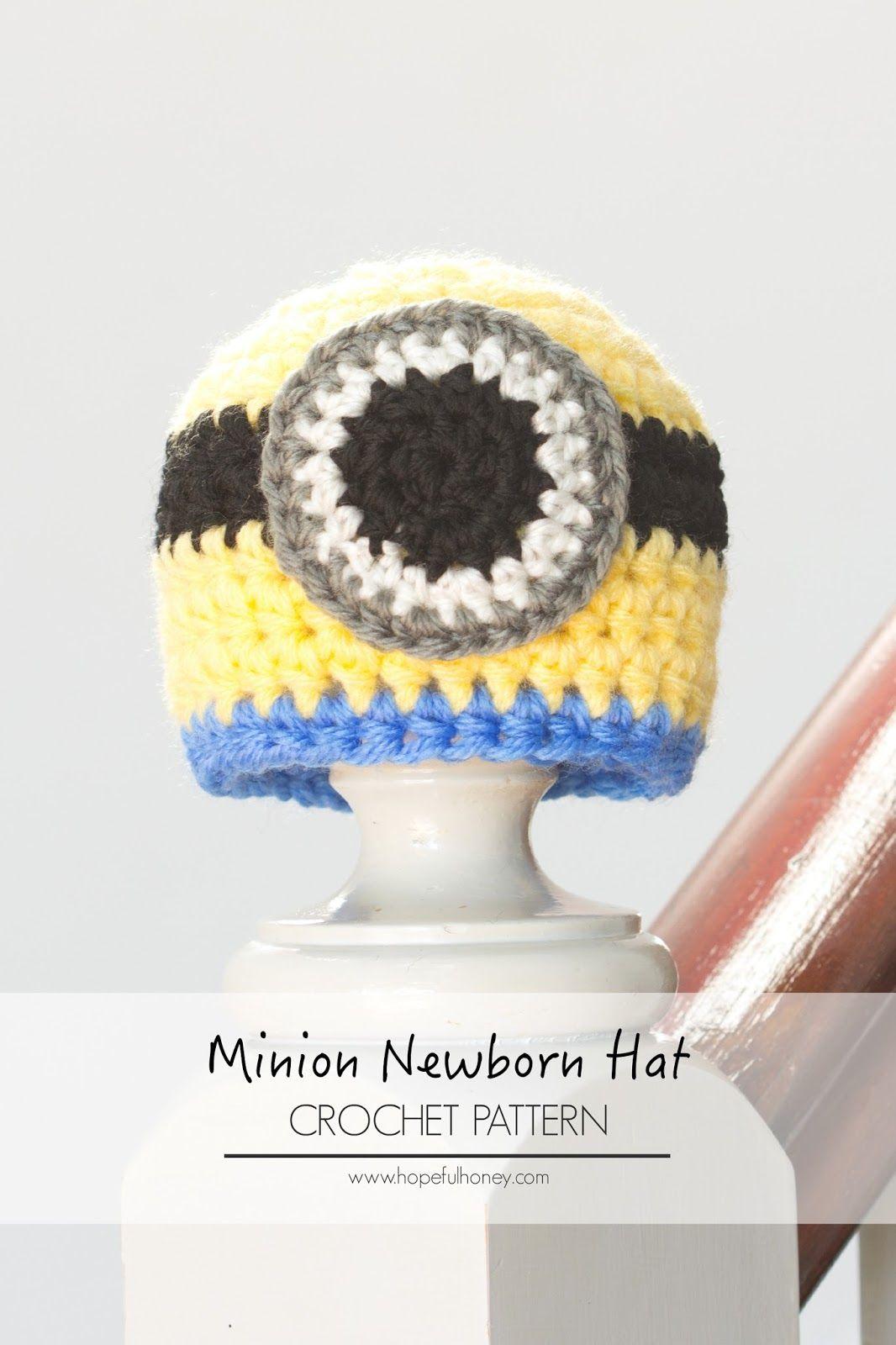 Newborn minion inspired hat crochet pattern free crochet newborn minion inspired hat free crochet pattern bankloansurffo Choice Image