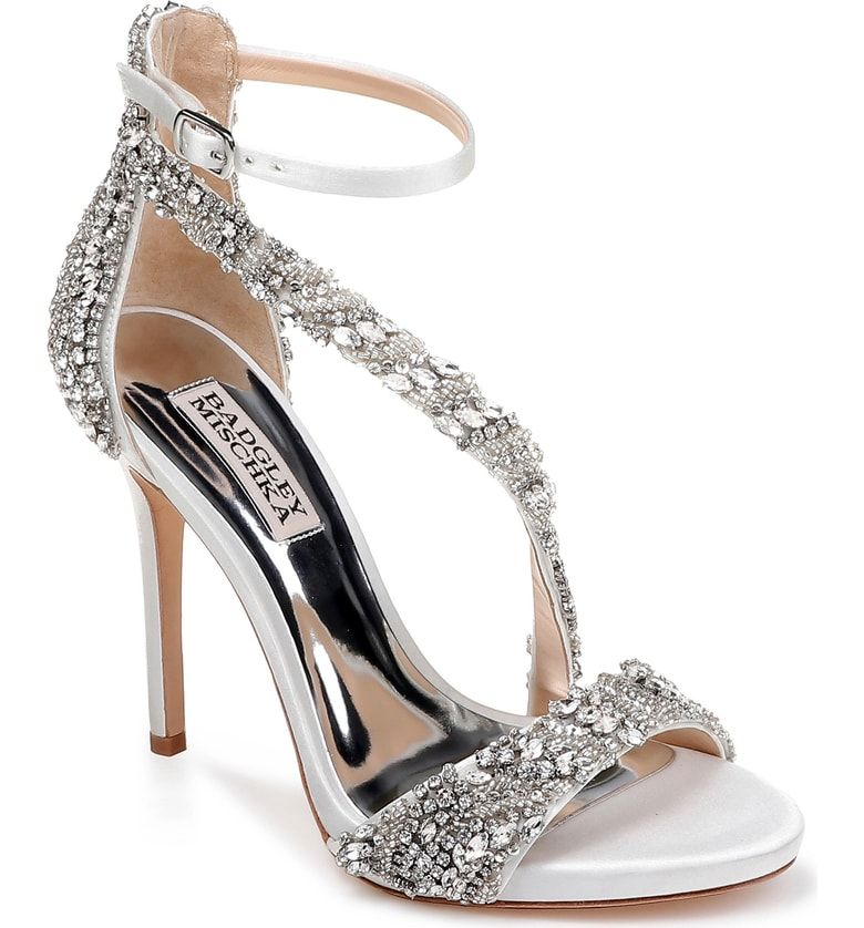 8922b05d0b8 Free shipping and returns on Badgley Mischka Venice Crystal Embellished  Strappy Sandal (Women) at Nordstrom.com.  p Placed crystals dazzle on a  soaring ...