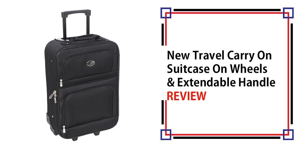 New Travel Carry On Suitcase On Wheels With Extendable Handle Review ... f8c4a3356e
