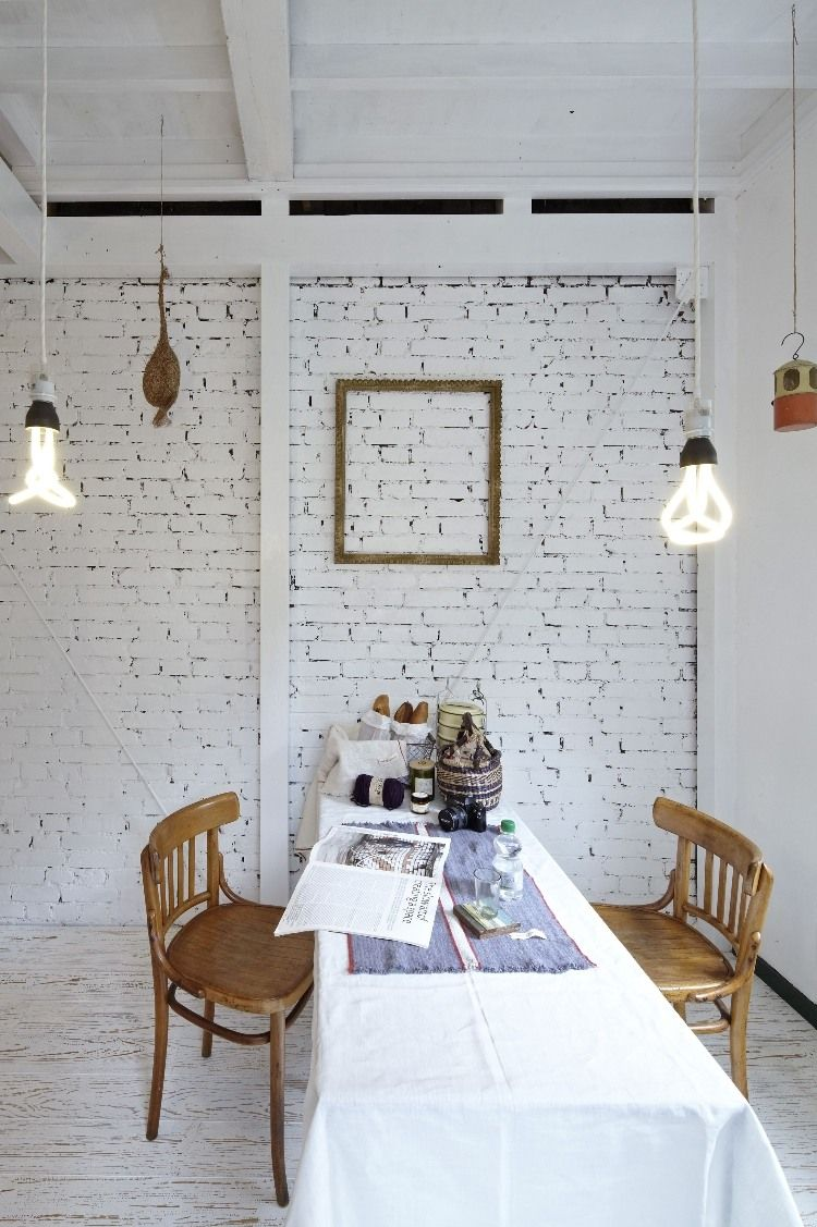 Ase By No 555 Homeadore Brick Interior Wall Brick Wall Bedroom Dining Room Accent Wall