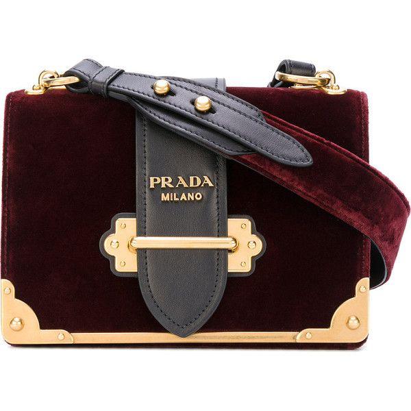 401f8ba2f3bc Prada Cahier mini bag ($2,440) ❤ liked on Polyvore featuring bags,  handbags, shoulder bags, red, mini purse, miniature purse, red handbags,  velvet handbags ...