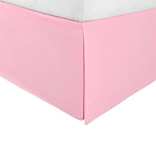 Wrinkle Resistant Tailored Drop Pleated Brushed Microfiber Bed Skirt