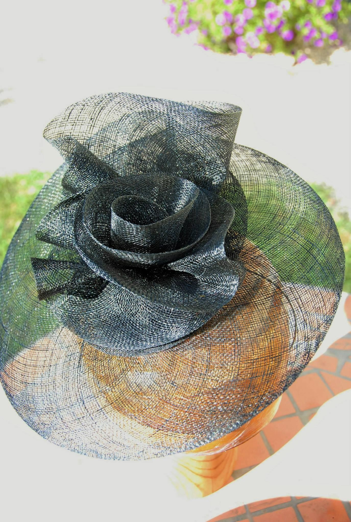 f0347b1b31733 My students first free form sinamay hat. www.millineryworkshops.com ...