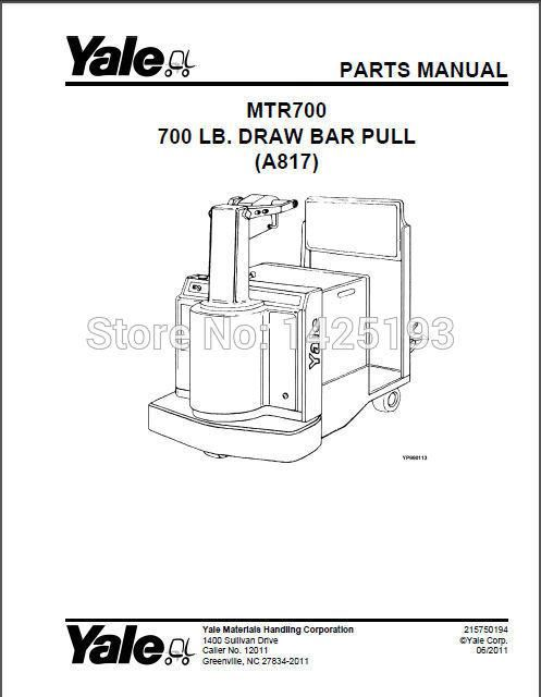 New Yale Spare Parts PDF 2017 for USA version. Yesterday's