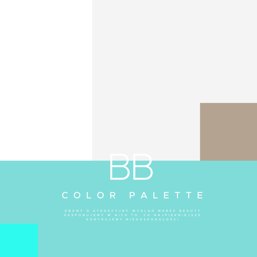 Bb Color Palette White Gray Blue Sky Turquoise Biały Szary