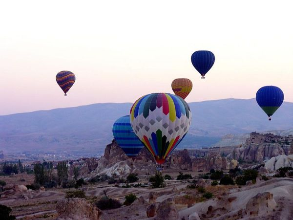 Hot-Air Ballooning High Above Cappadocia, Turkey