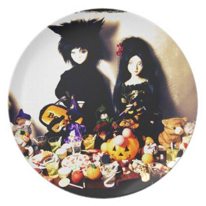 old halloween photo plate - halloween decor diy cyo personalize