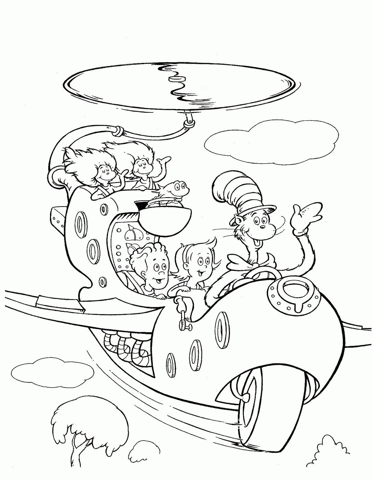 Cat In the Hat Coloring Pages From the thousand pictures