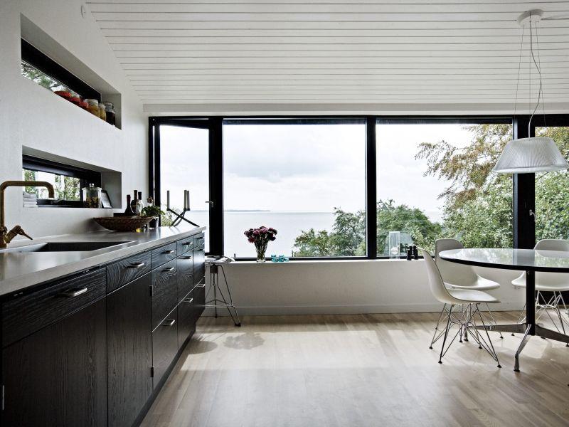 cool kitchen | Dream Home. | Pinterest | Black window frames, Window ...