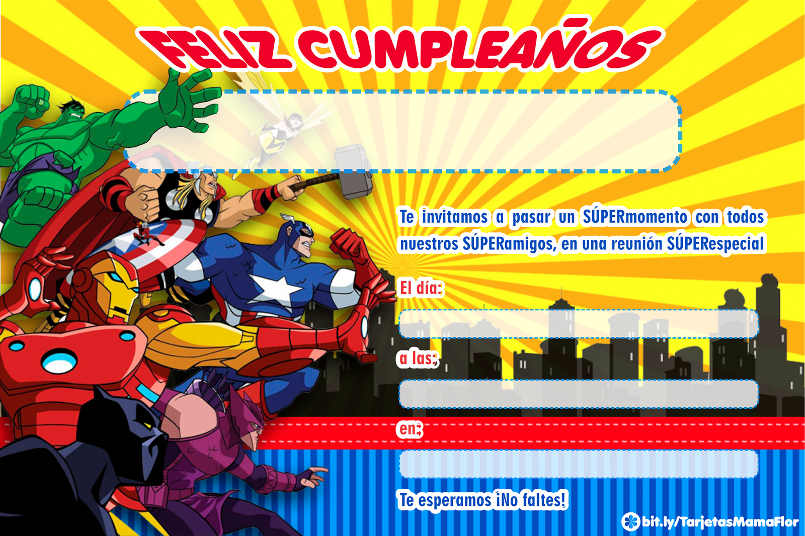 Los Vengadores Bbbb Cumpleaños De Los Vengadores Tarjetas